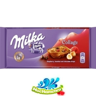 Impulse MILKA Collage Raspberry, Hazelnut, Choco drops 93гр