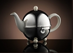 TWG Design Teapot with Filter & Warmer in White