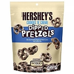 Hershey`s печенье Cookies `N` Creme Dipped Pretzels 120 гр, 12 шт/уп