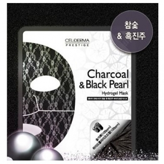 Гидрогелевая маска СEL-DERMA Prestige Charcoal and black pearl (4шт)