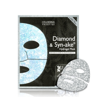 Гидрогелевая маска СEL-DERMA Prestige Diamond and Synake (4шт)