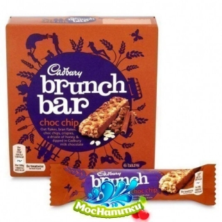 Cadbury  Мюсли-батончики Brunch Choc Chip 6pk 192 гр,  4 шт/уп