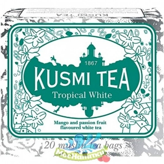 Kusmi tea «Tropical White» Mango and passion fruit flavoured white tea, Саше (20шт)